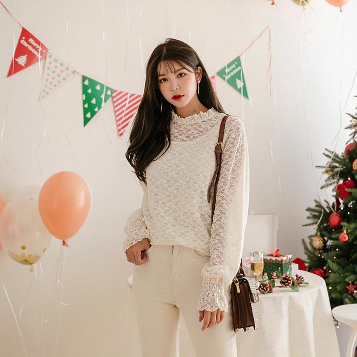 09women-[큐비 레이스 블라우스 46838]♡韓國女裝上衣