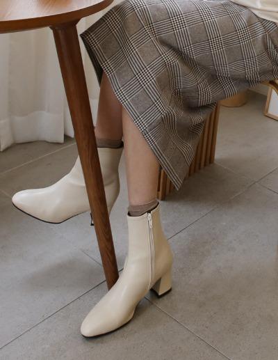 indibrand-렌시 기모 앵클 부츠 (수입)♡韓國女裝鞋