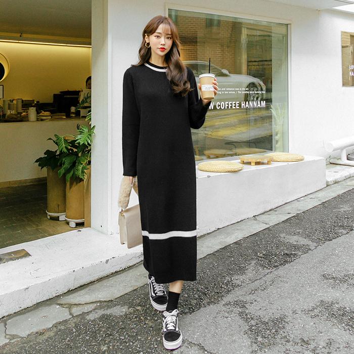 09women-[나르 골지 니트 원피스 46483]♡韓國女裝連身裙