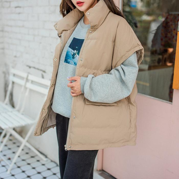 09women-[락싱 빅 패딩조끼 46274]♡韓國女裝外套