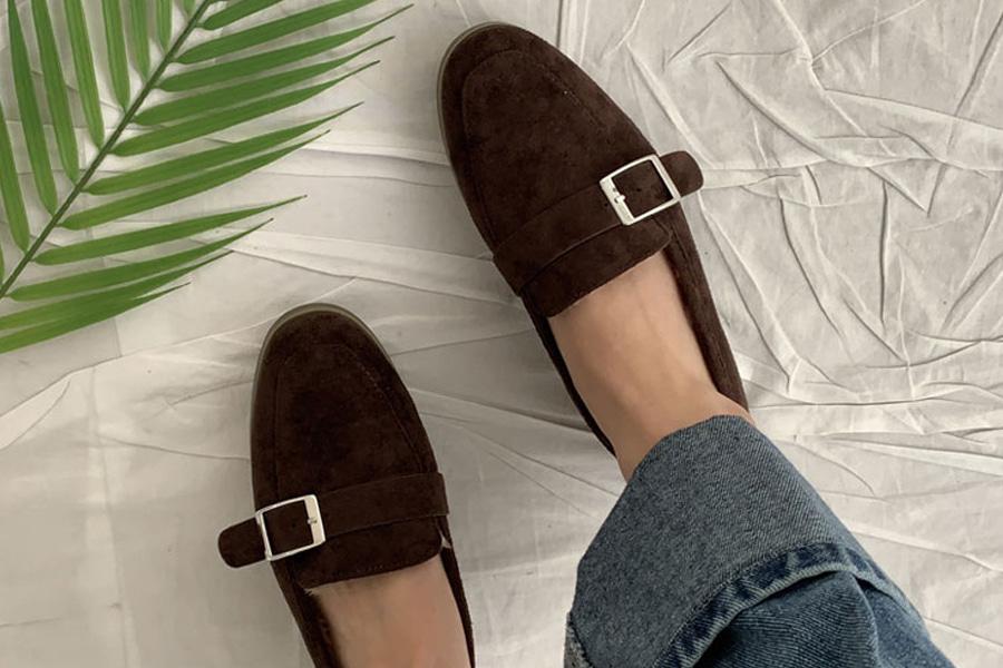 blancjo-미니 벨트 기모 로퍼_ss03471♡韓國女裝鞋