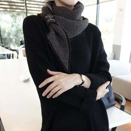 misharp-H고리 니트 머플러 (4 color)♡韓國女裝飾品