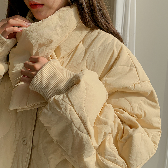 09women-[라율 깔깔이 패딩점퍼 (목도리SET) 46473]♡韓國女裝外套