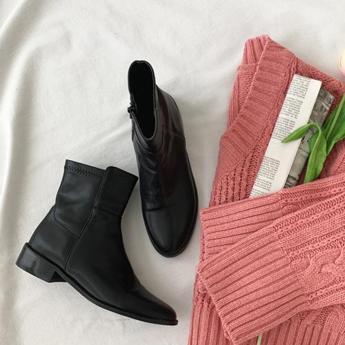minibbong-플레타 앵클부츠♡韓國女裝鞋