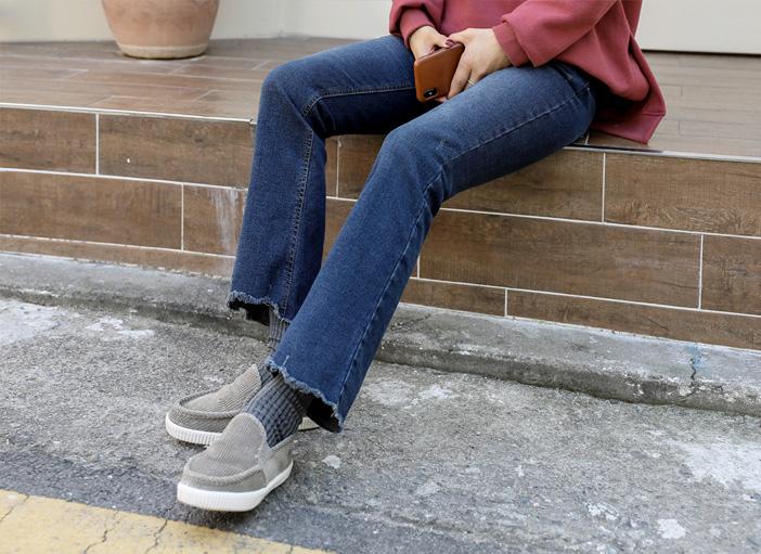 clicknfunny-[캘룬기모 부츠컷데님팬츠[S,M,L사이즈]]♡韓國女裝褲