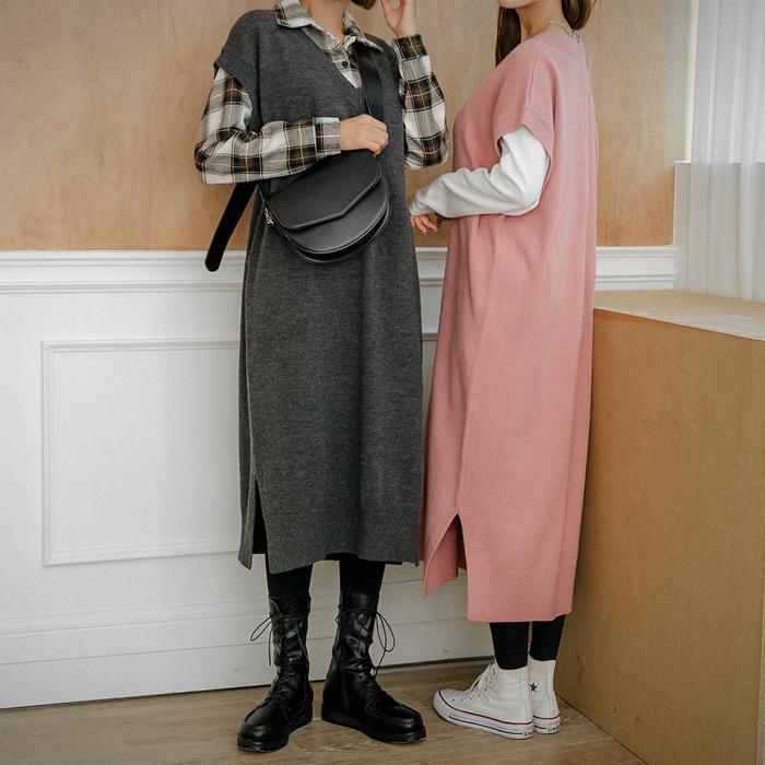 09women-[블라 니트 조끼 원피스 46570]♡韓國女裝連身裙