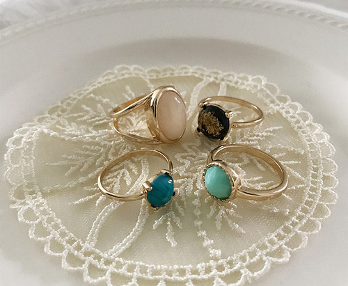 withyoon-[B타입 당일출고]vintage ring set 001♡韓國女裝飾品