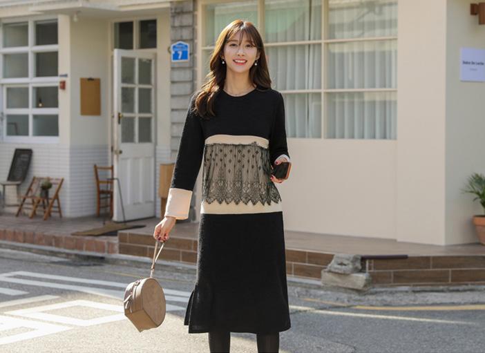 clicknfunny-[뉴즈 레이스원피스]♡韓國女裝連身裙