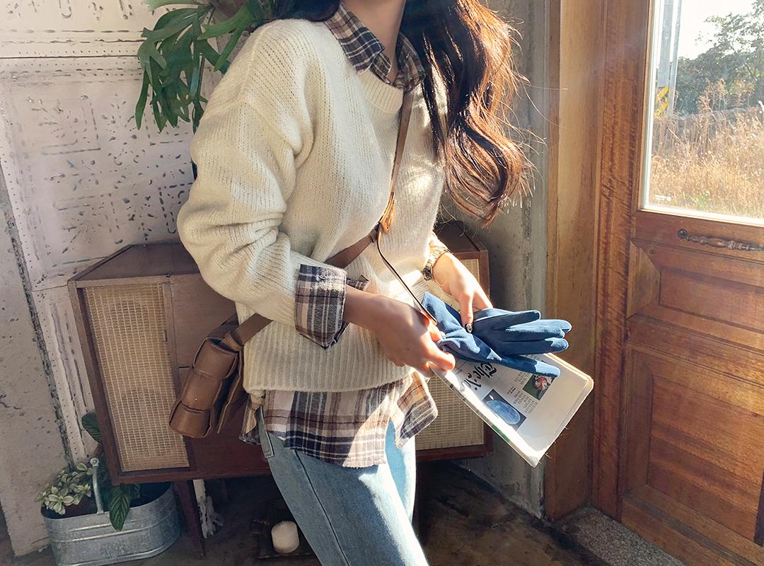 naning9-모멘토 라운드뽀송니트(A11)♡韓國女裝上衣