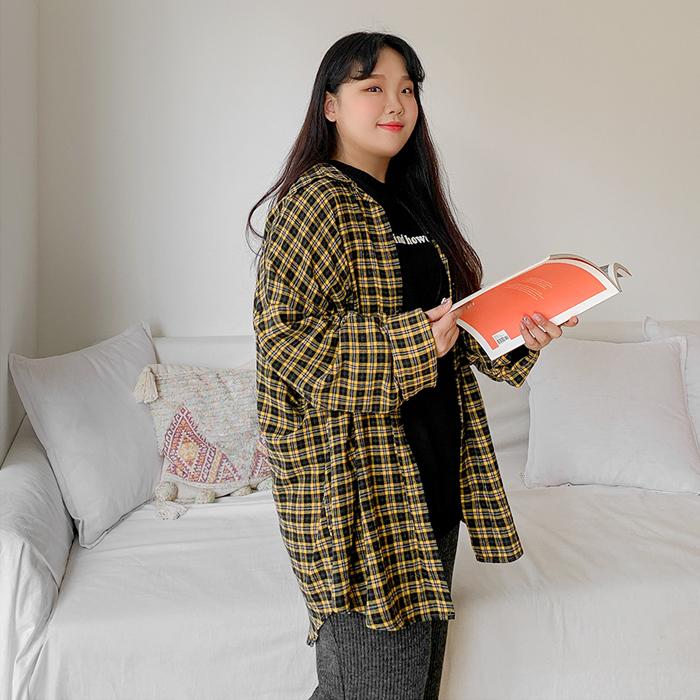 09women-[니튠즈 루즈핏 체크 셔츠 46309]♡韓國女裝上衣