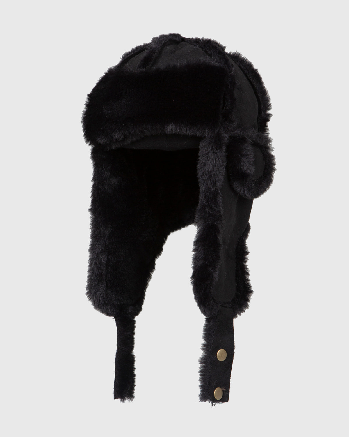 raucohouse-SUEDE FUR TROOPER HAT - RAUCO HOUSE♡韓國男裝飾品