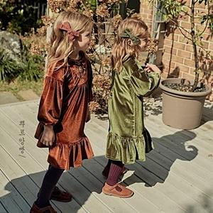 agiddongbaby-◇바로사용 쿠폰증정◇뿌르앙빵.아벨원피스[브라운/카키]*S~XL*♡韓國童裝連身裙