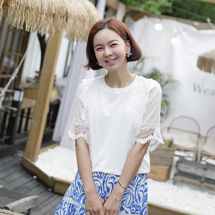 lemite-윈드레이스 니트♡韓國女裝上衣