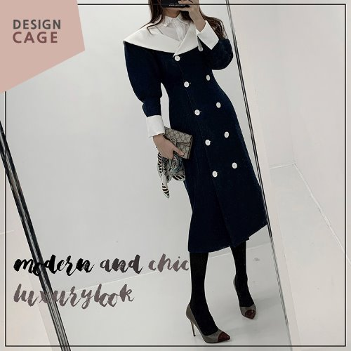 opencage-*lucky7%*designer line* hepburn AW collection OPS♡韓國女裝連身裙