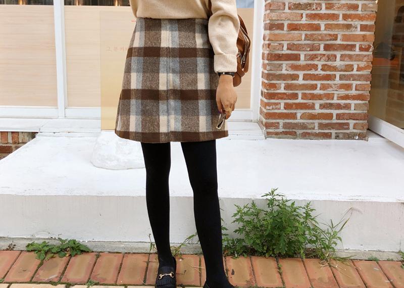 9-room-벨로 체크 스커트 (2color)♡韓國女裝裙