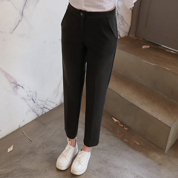 chicfox-[여우슬랙스40탄]윌리즈 세미일자모직슬랙스♡韓國女裝褲