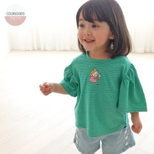 cooingkids-P아스크림소매티 북유럽 유아복 여름 아동 여아 티셔츠 여자아기옷]♡韓國童裝上衣