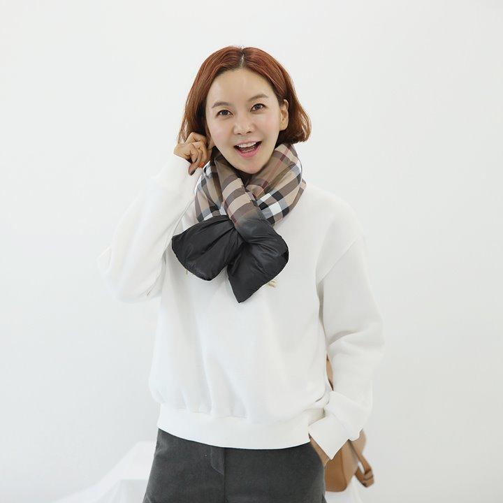 lemite-체크패딩 머플러♡韓國女裝飾品
