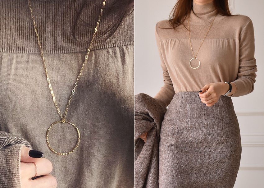 myclassy-Circle necklace[silver92.5]♡韓國女裝飾品