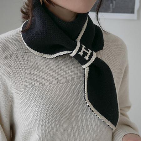 misharp-H고리 니트 머플러2 (5 color)♡韓國女裝飾品