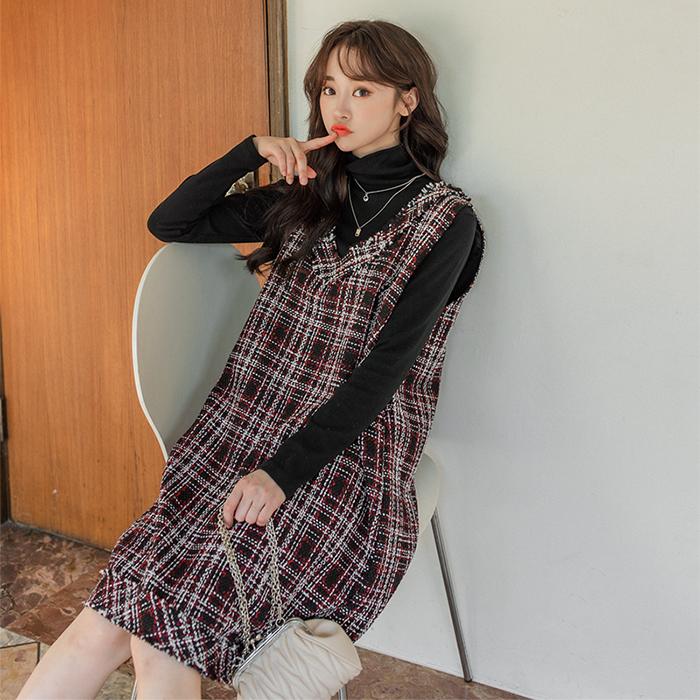 09women-[츄로 트위드 원피스 46261]♡韓國女裝連身裙