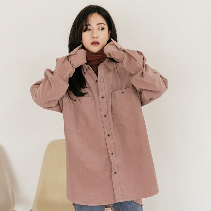 09women-[(unisex)라일리 코듀로이 셔츠 46397]♡韓國女裝上衣