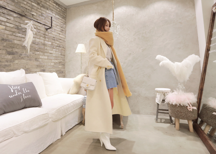 walkingcoco-snow wool coat♡韓國女裝外套