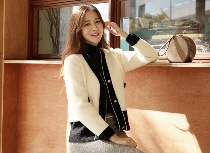 clicknfunny-[인져스 앙고라 가디건]♡韓國女裝外套