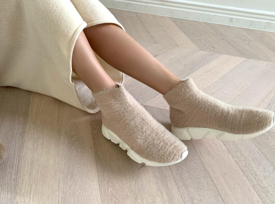 naning9-렐드 앙고라삭스스니커즈(A10)♡韓國女裝鞋