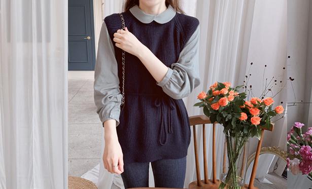 leelin-[클레스 허리끈세트 베스트[size:F(55~77)]]♡韓國女裝套裝