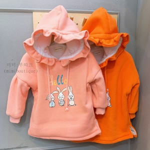 agiddongbaby-◇바로사용 쿠폰증정◇미미부띠끄.프릴후드원피스[오렌지/핑크]*S~XXL*♡韓國童裝連身裙