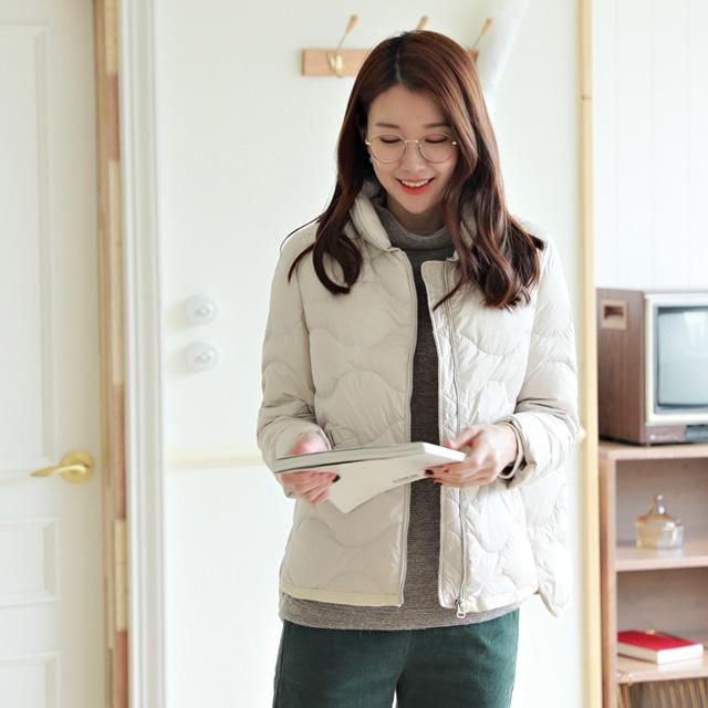 tiramisu-JK6175/뭉클물결오리털패딩♡韓國女裝外套