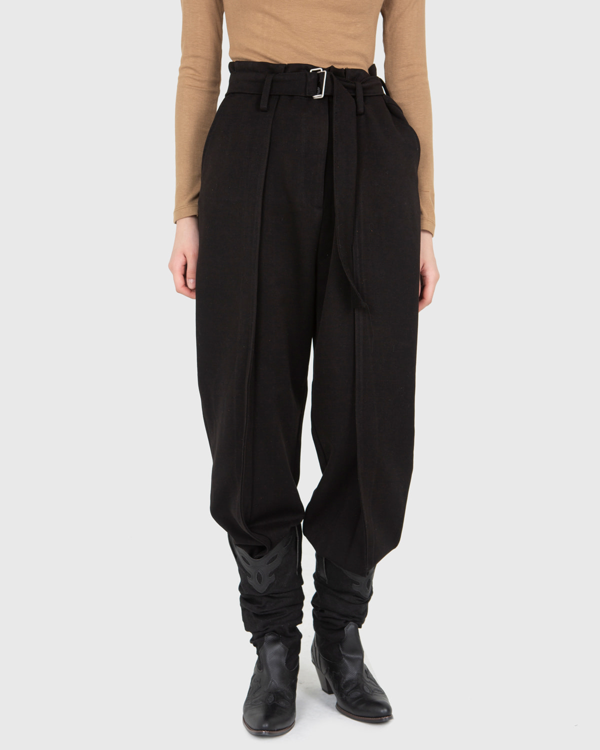 raucohouse-CASUAL BELTED WIDE PANTS - RAUCO HOUSE♡韓國男裝褲子