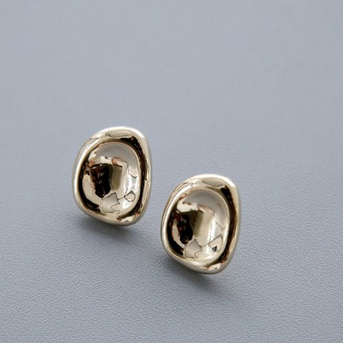 opencage-glossy gold earring♡韓國女裝飾品