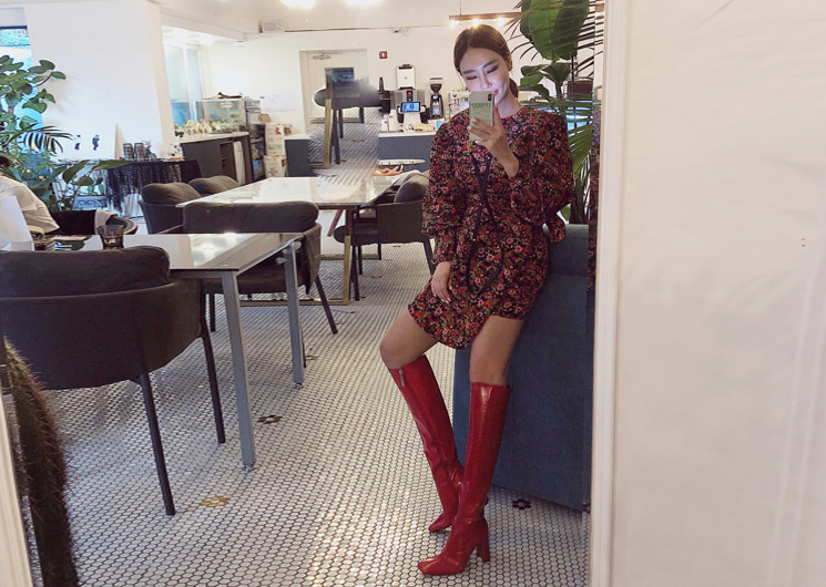 walkingcoco-vintage flower one-piece♡韓國女裝連身裙