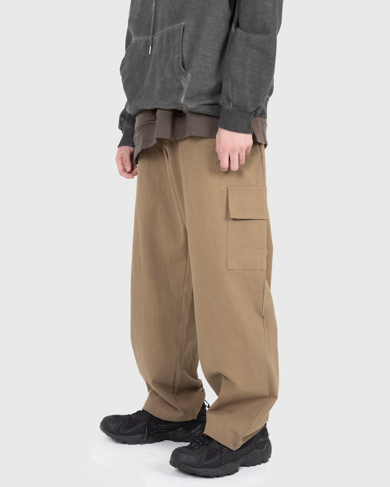 raucohouse-WIDE CARGO BANDING PANTS - RAUCO HOUSE♡韓國男裝褲子