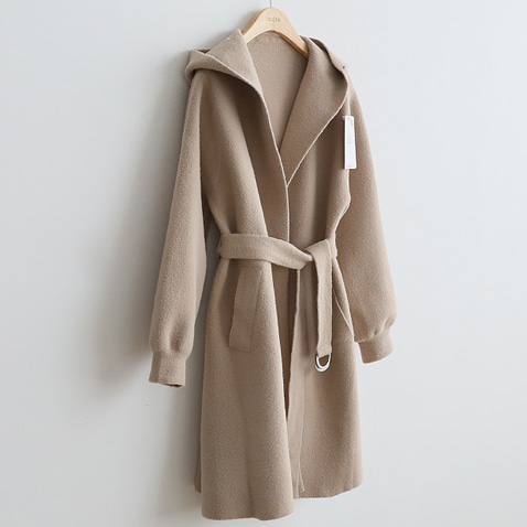 jooen-OT1901/Cozy Belted Hood Long Coat(55~77)♡韓國女裝外套