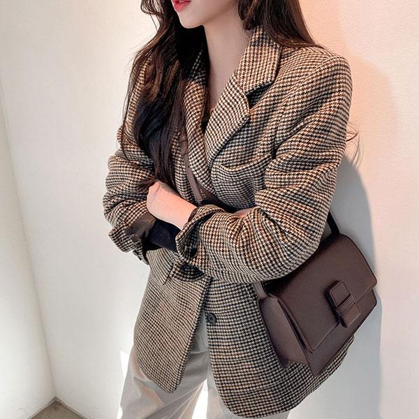 icecream12-하운드 체크 울 jacket (울 50%)   전체상품피드   아이스크림12(icecream12)♡韓國女裝外套