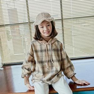 agiddongbaby-◆바로사용 쿠폰증정◆리키즈JR.체크후드티[베이지/검정]*9호~17호*♡韓國中童裝