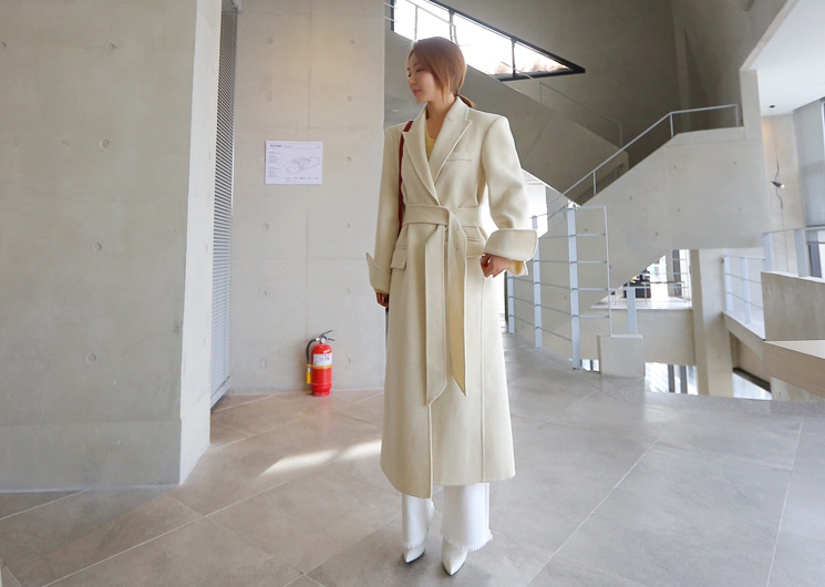 walkingcoco-wool belt hand coat♡韓國女裝外套