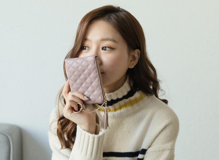 clicknfunny-[겔리 퀼팅지갑]♡韓國女裝袋