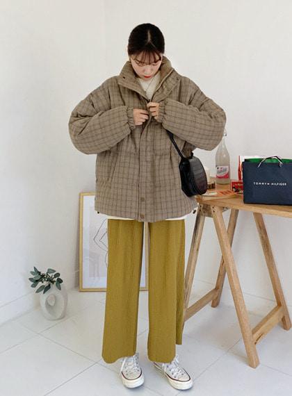 loveloveme-유니크체크패딩JP   럽미♡韓國女裝外套