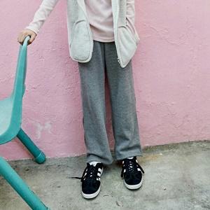 agiddongbaby-◆바로사용 쿠폰증정◆리키즈JR.밍크와이드팬츠[검정/회색]*9호~17호*♡韓國中童裝