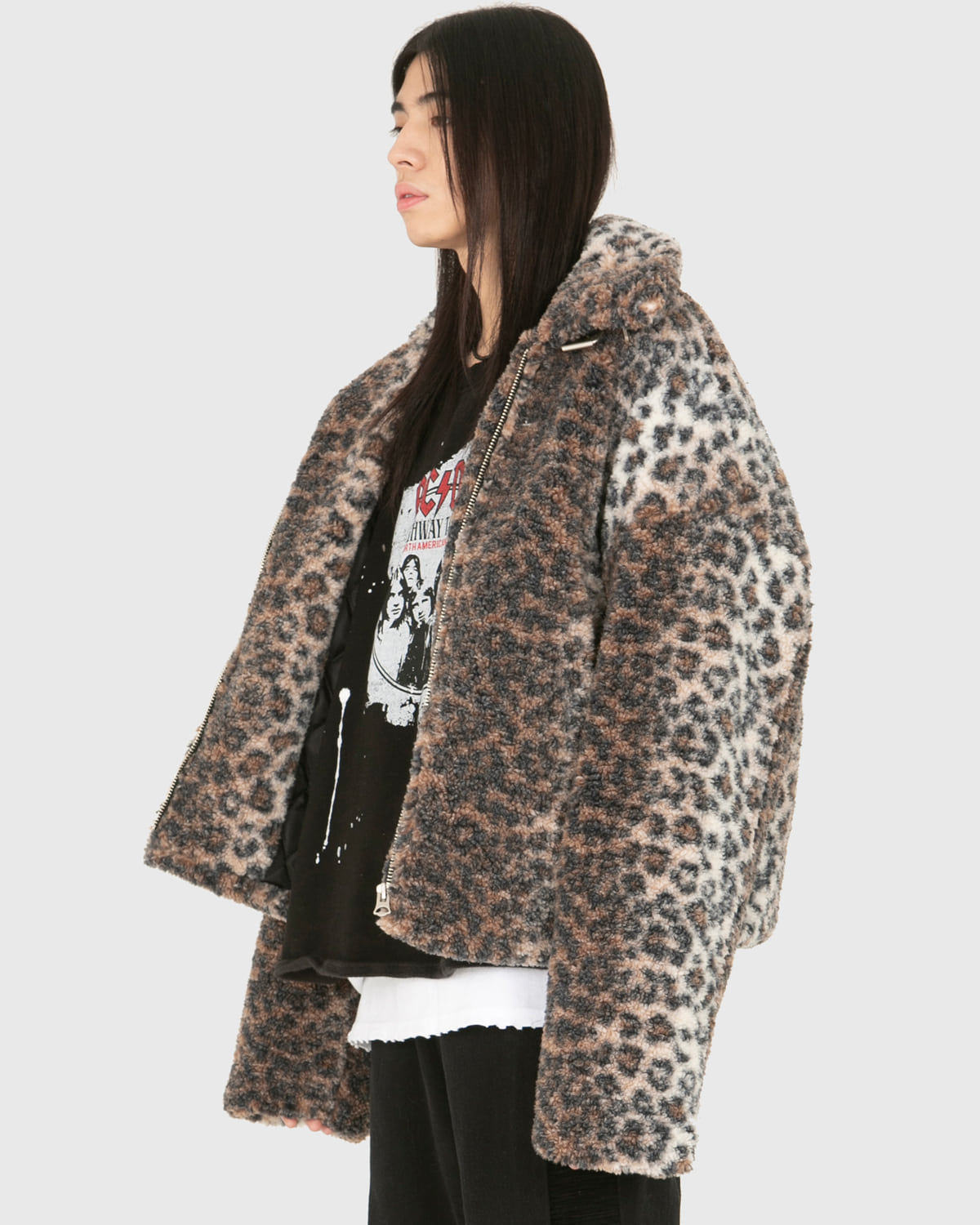 raucohouse-LEOPARD DUMBLE SHEARLING JACKET - RAUCO HOUSE♡韓國男裝外套