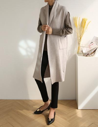 indibrand-로로 숄 베스트 (수입)♡韓國女裝外套