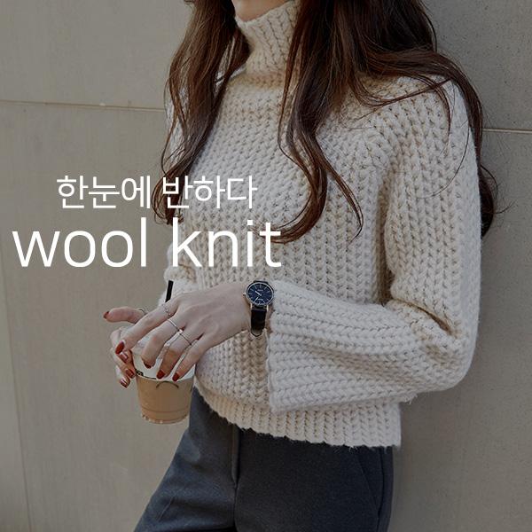 chicfox-러블리너 울폴라니트♡韓國女裝上衣