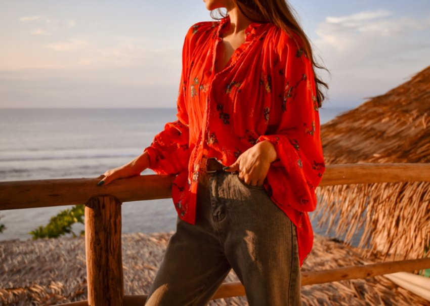 myclassy-Flia lace blouse *[red]♡韓國女裝上衣