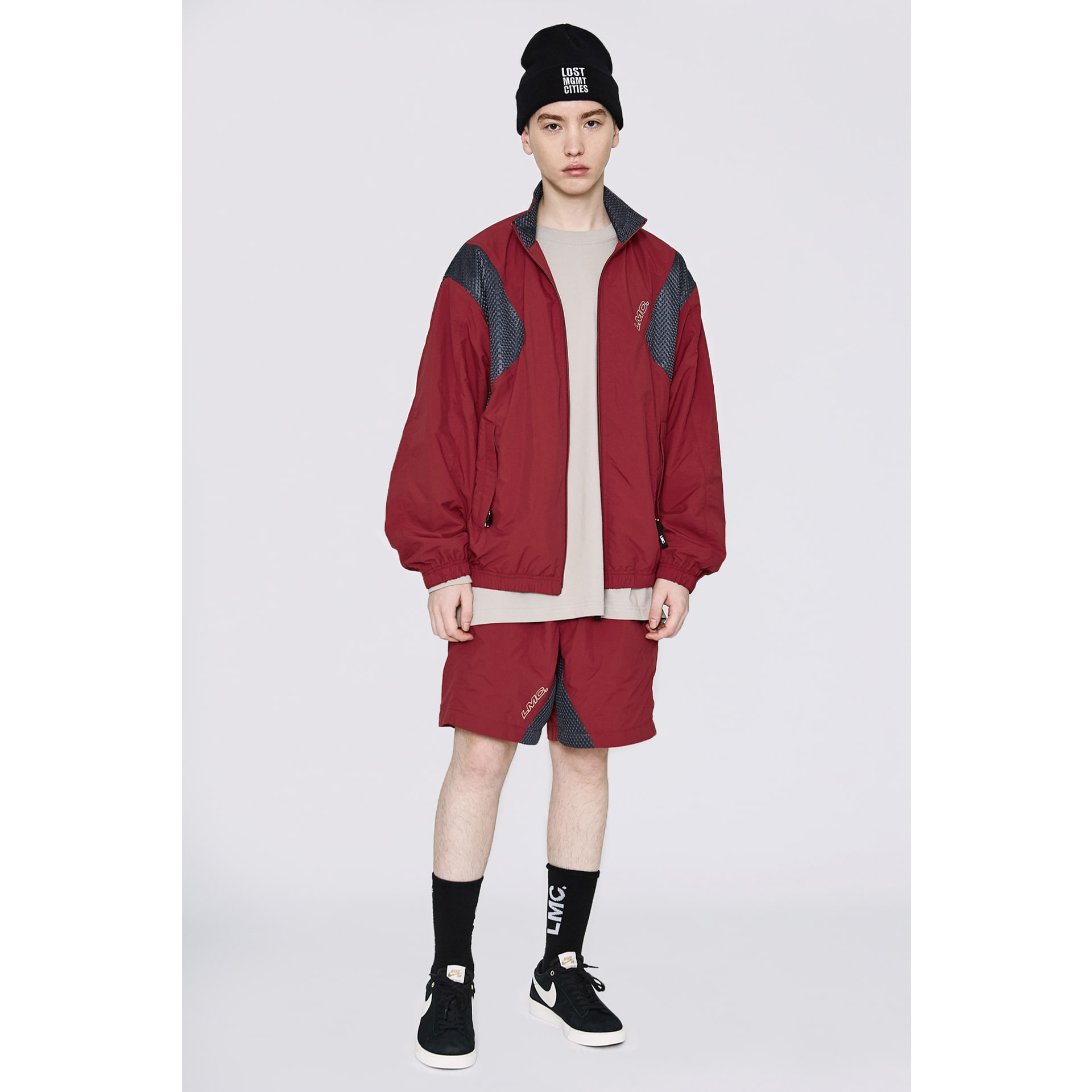layer-LMC MMWB TRACK SUIT SHORTS red♡韓國男裝褲子