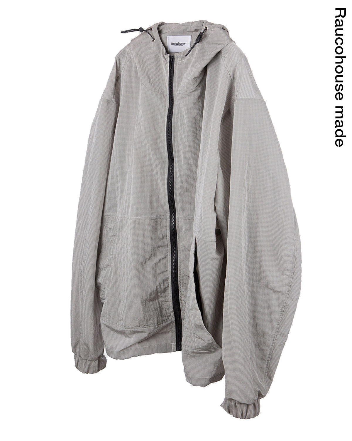 raucohouse-OUTDOOR NYLON HOODED JACKET - METAL GRAY - RAUCO HOUSE♡韓國男裝外套