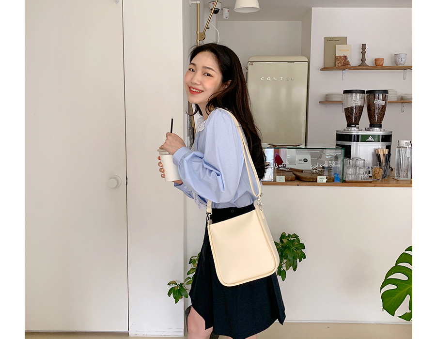 frombeginning-Unique square shoulder bag_J (size : one)♡韓國女裝袋